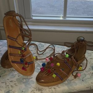 Fun Colorful Sandals Size 9.5